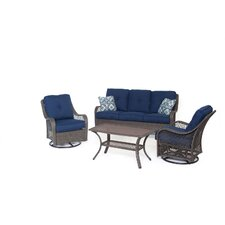 Orleans 4-Piece All-Weather Patio Seating Group with Cushion by Hanover