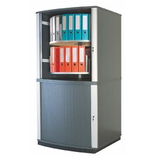 Lockfile Binder and File Carousel Cabinet 71 H Four Shelf Shelving Unit by Moll
