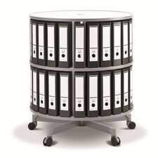"""One Turn Binder and File Carousel 35"""" H Shelving Unit"""