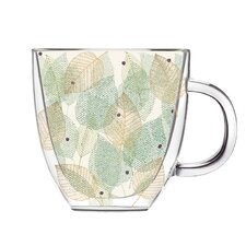 Machuca 12 oz. Leaves of Lain DW Glass Coffee Cup