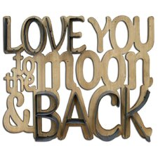 Love You to the Moon and Back' Decorative Plaque Wall D?cor by HDC International