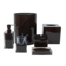 DecoTalk Ceramic Bathroom Set 4piece Set Diamond Shape