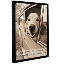 Dogs and Sayings Framed Photographic Print on Wrapped Canvas