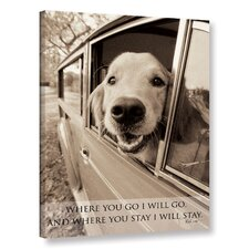 Dogs and Sayings Photographic Print on Wrapped Canvas