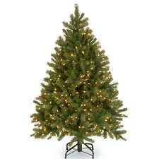 Downswept Douglas 4.5u0027 Green Fir Artificial Christmas Tree with 300 Warm  White LED Lights Includes