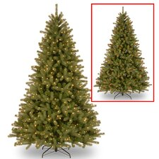 Lakewood 7.5' Green Spruce Artificial Christmas Tree with 700 Dual Color® LED Lights Includes Stand