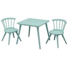 Justine Windsor 3 Piece Table and Chair Set by Delta