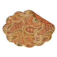 Tangiers Cotton Quilted Oval Placemat (Set of 6)