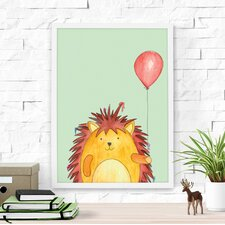 Hedgehog and His Red Balloon Framed Art