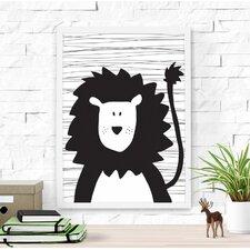 Cute Lion Framed Art