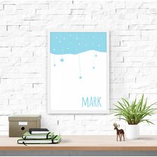 Starry Night Personalized Baby Name Framed Art