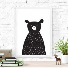 Cute Bear Paper Print