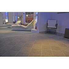 "Bergo Soft Antimicrobial Polyethylene 14.88"" x 14.88"" Loose Lay/Interlocking Deck Tiles in Sand"