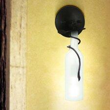 Vine and Wine Bottle 1-Light Armed Sconce