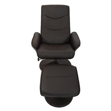 Alina Swivel Recliner and Footstool