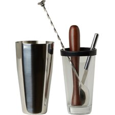 Bar Craft Luxe Lounge 4 Piece Mojito Cocktail Set