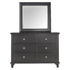 Isabella 6 Drawer Dresser with Mirror