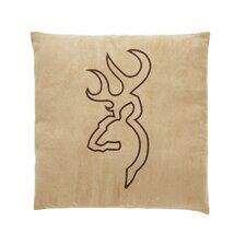 Buckmark Embroidered Throw Pillow