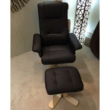 Swivel Recliner and Footstool