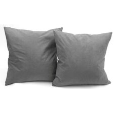 Microsuede Throw Pillow (Set of 2) by Deluxe Comfort