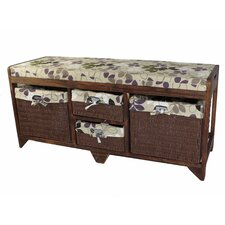 Cheever Wood Storage Hallway Bench