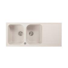 Fancy 116 x 50cm Double Bowl Kitchen Sink