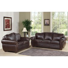 Morgenstern Leather Sofa and Loveseat Set