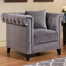 Zirconia Velvet Armchair by House of Hampton