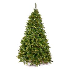 Cashmere 6.5' Green Pine Artificial Christmas Tree with 500 Dura-Lit Clear Lights with Stand