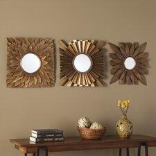 3 piece antique gold decorative mirror set - Decorative Mirror