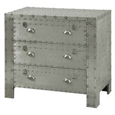 Leandra Industrial 3 Drawer Chest by 17 Stories
