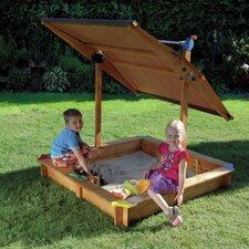 Quadratischer Sandkasten 140 cm x 140 cm