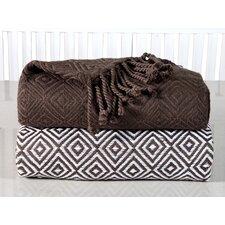 Elegancia Diamond Weave Cotton Throw Blanket