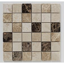 Emprador 30.5cm x 30.5cm Mosaic Tile in Beige