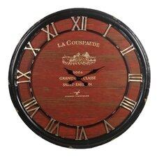 """Round 36"""" Red Iron Clock"""
