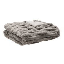 Nettinne Ruched Fur Throw Blanket