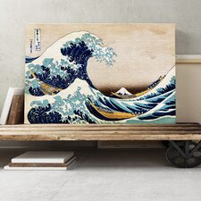 'Oriental Under the Great Wave of Kanagawa' by Katsushika Hokusai Painting Print on Canvas