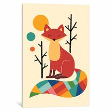 Rainbow Fox Canvas Art