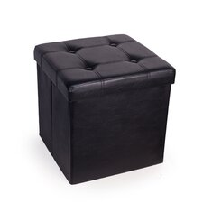 Cassell Upholstered Folding Storage Ottoman by Charlton Home