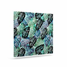 'Tropical Leaves' Graphic Art Print on Canvas