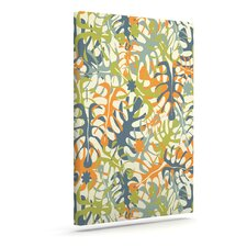 'Summer Tropical Leaves' Graphic Art Print on Canvas