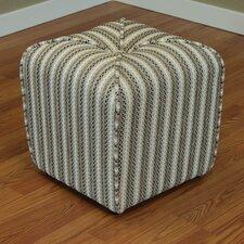 Coggins Stripe Upholstered Ottoman by Red Barrel Studio