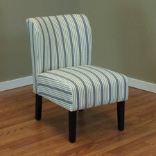 Diana Stripe Upholstered Side Chair by Darby Home Co
