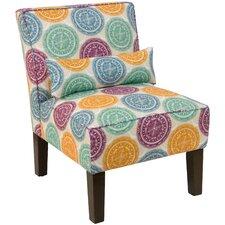 Lauri Pen Medallion Slipper Chair by Latitude Run