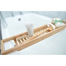 Luxury Slim Bamboo Bath Bridge Bathtub Rack