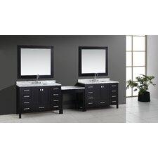 Halcomb 126 Double Bathroom Vanity Set with Mirror by Red Barrel Studio