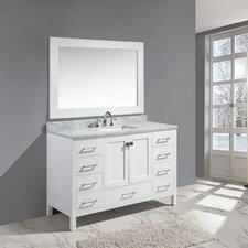 Halcomb 54 Single Bathroom Vanity Set with Mirror by Red Barrel Studio