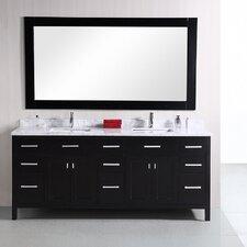Halcomb 78 Double Bathroom Vanity Set with Mirror by Red Barrel Studio