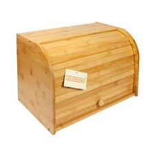 Bamboo Double Decker 2 Layer Roll Top Wooden Bread Bin