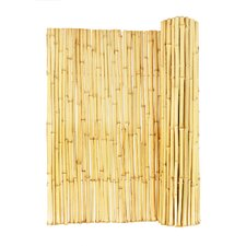 Natural Rolled Bamboo Panel Fence